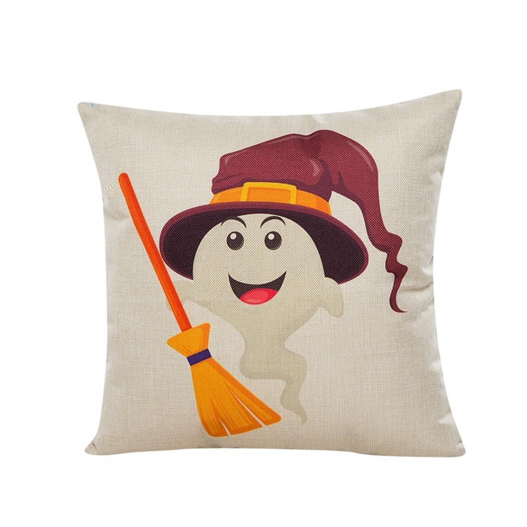 ZLOLIA Halloween Sofa Bed Home Decor Pillow Case Cushion Cover (YE)