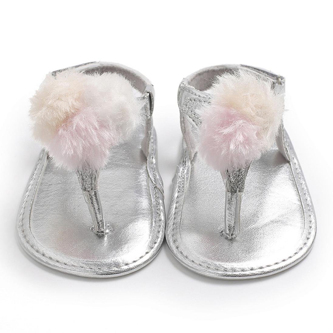 Voberry Baby Infant Girls Flower Shoes Soft Sole Anti-slip Summer Crib Sneakers Sandals