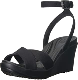 62cd3a388a Crocs Women's Leigh II Adjustable Ankle Strap Wedge Comfort Sandal