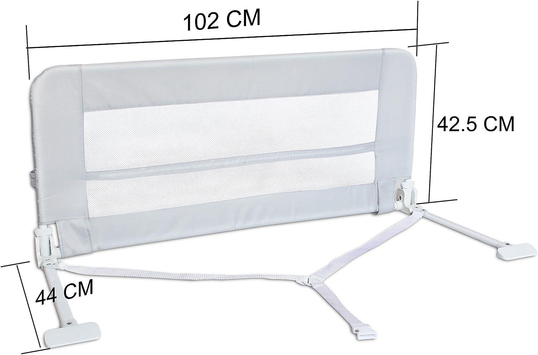 Barri/ère de S/écurit/é Pliable s 1,02 m/ètre Mat/ériau: Tissu en nylon Bleu Barri/ère de S/écurit/é pour Lit de B/éb/é Leogreen
