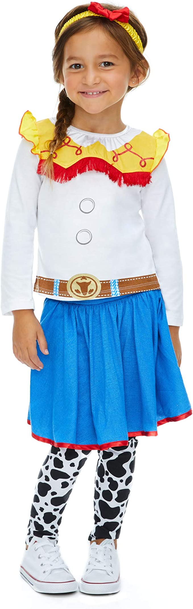 Disney Princess Jasmine Girls Costume Dress Tights & Headband Set ...