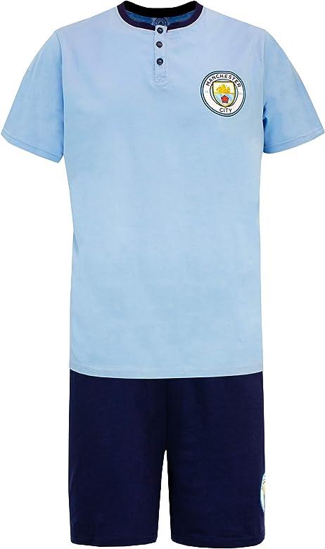 Premier League Pijama para Hombre Manchester City F.C. Azul Small ...