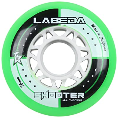 Labeda Wheels Inline Roller Hockey Shooter All Purpose Green 76mm 83A x1 : Sports & Outdoors