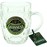 Guinness Green Collection Dimpled Tankard - Large Glass Beer Mug