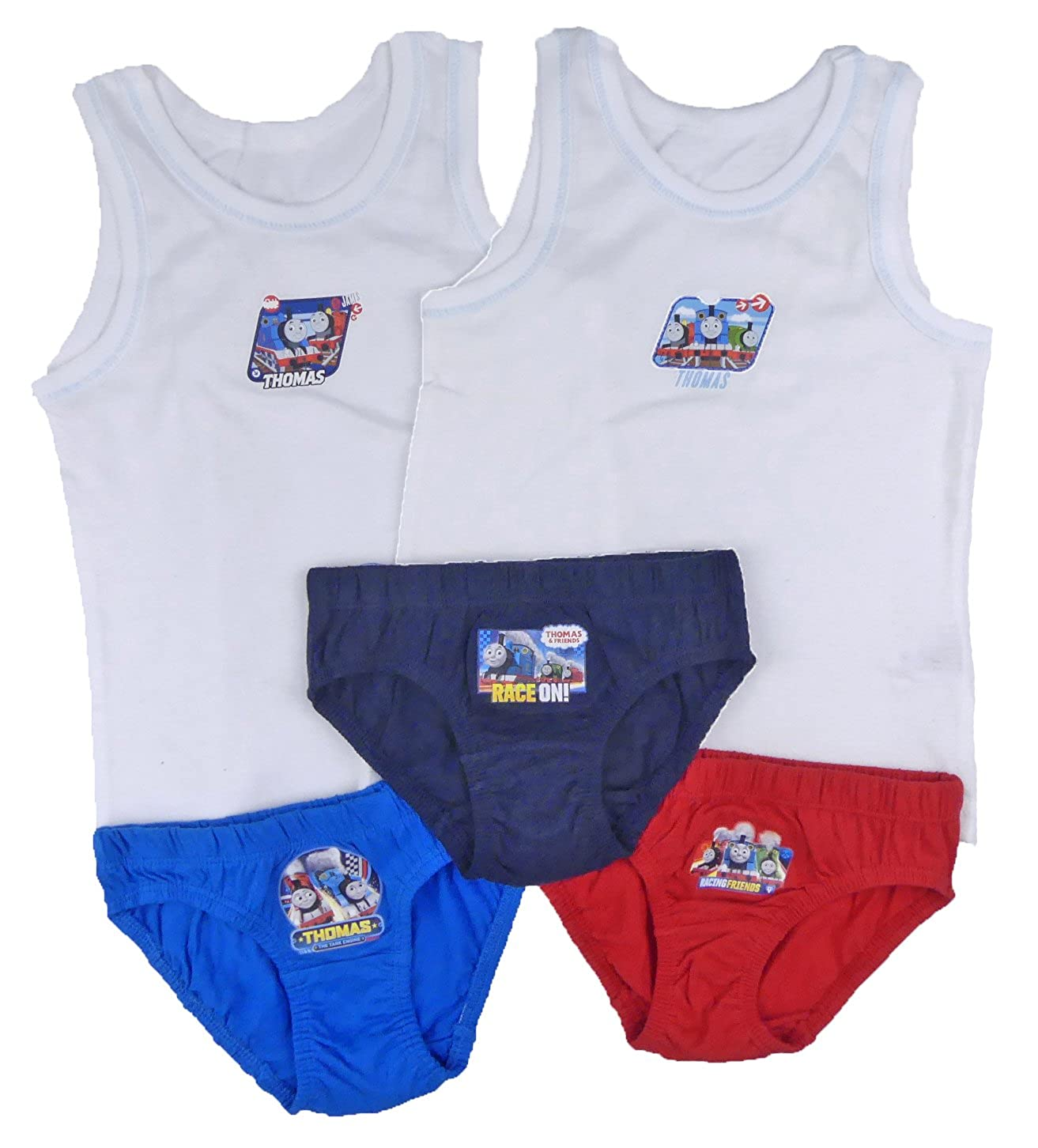 Thomas the Tank Engine Vests and Underpants Set sizes
