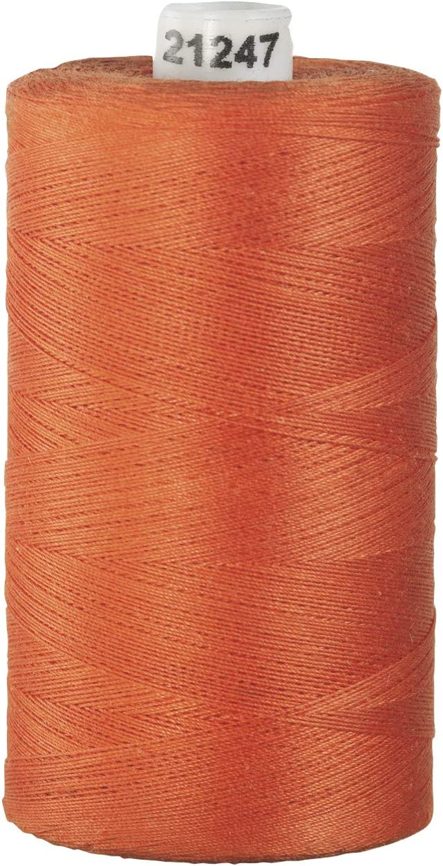 1200 Yard Spool Connecting Threads 100/% Cotton Thread Apricot