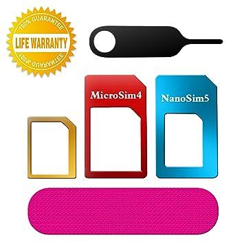 Adaptador de tarjeta SIM,TechRise 5 en 1 Nano SIM a SIM, Nano SIM ...