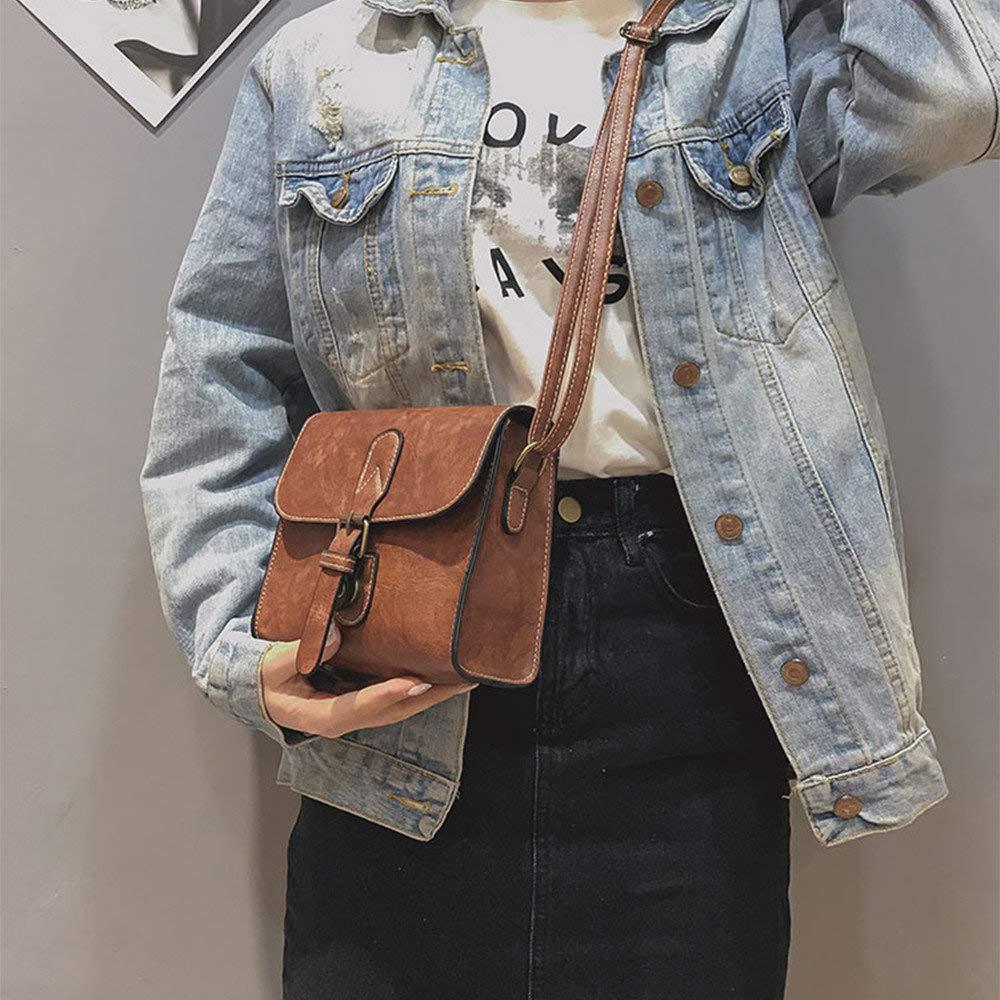 Bolsos Mujer Mochilas cuadrado peque/ño diagonal de hombro para mujer Vintage Wind Belt Buckle Backpack Daypack para Escuela trabajo fecha