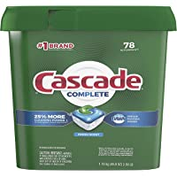 Complete Dishwasher-Pods, ActionPacs Dishwasher Detergent Tabs, Fresh Scent, 78 Count (Packaging May Vary) (#!!. 0 01…