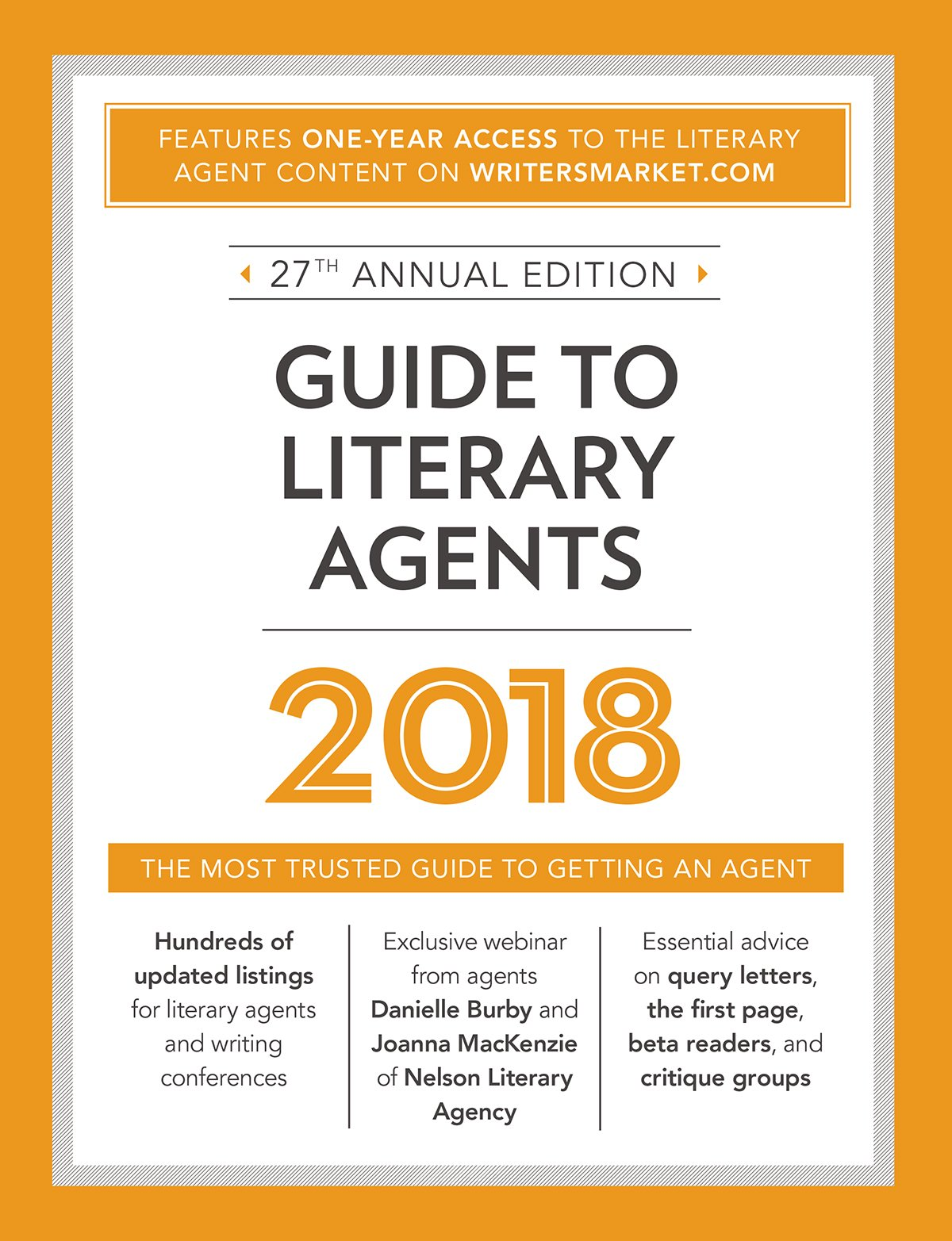 Guide to Literary Agents 2018: The Most Trusted Guide to Getting Published (Market) by Writer's Digest