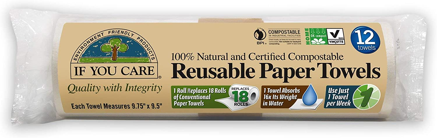 If You Care Natural Reusable Paper Towels, 12Count