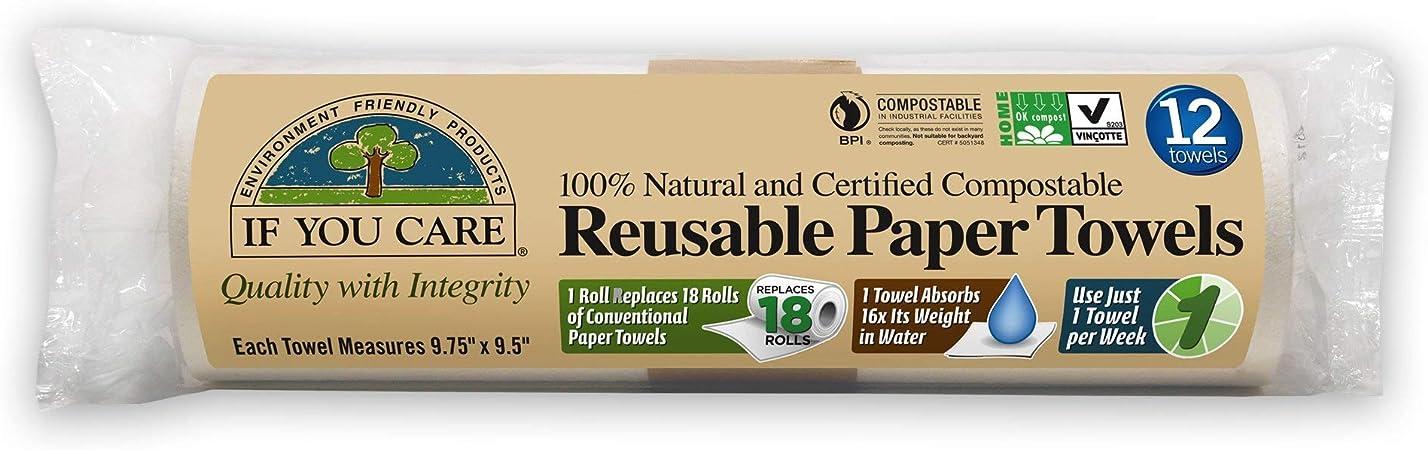 Reusable no paper towels-autumn gold and grey set