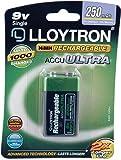 Lloytron AccuUltra - Pila recargable (9 V, 250 mAh, Ni-Mh)