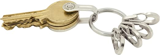 EDC Keychain Multi Tool Lightweight Folding Key Organizer Holder Pocket Key Pip