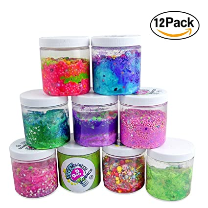 Slime Storage Jars 8 oz 12 pack - Large Clear Containers to make your Glue Putty  sc 1 st  Amazon.com & Amazon.com: Slime Storage Jars 8 oz 12 pack - Large Clear Containers ...