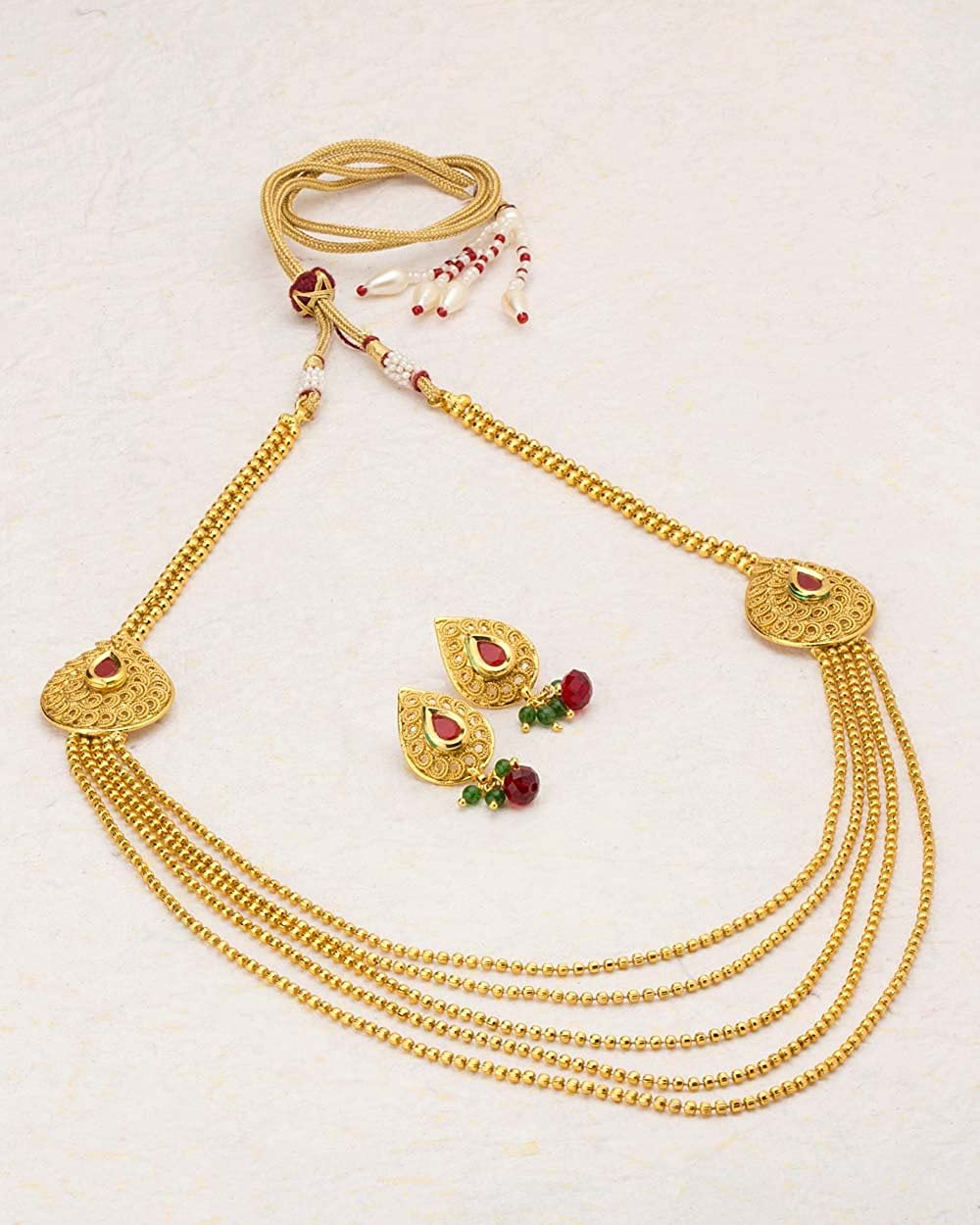 d2e2e68b1563 Buy Voylla Gold Plated Jewellery Set for Women (8907617486536) Online at  Low Prices in India