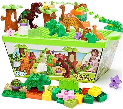 40 PCS OF Dinosaur Jurassic Building Block Educational Toy for Children Fun Set