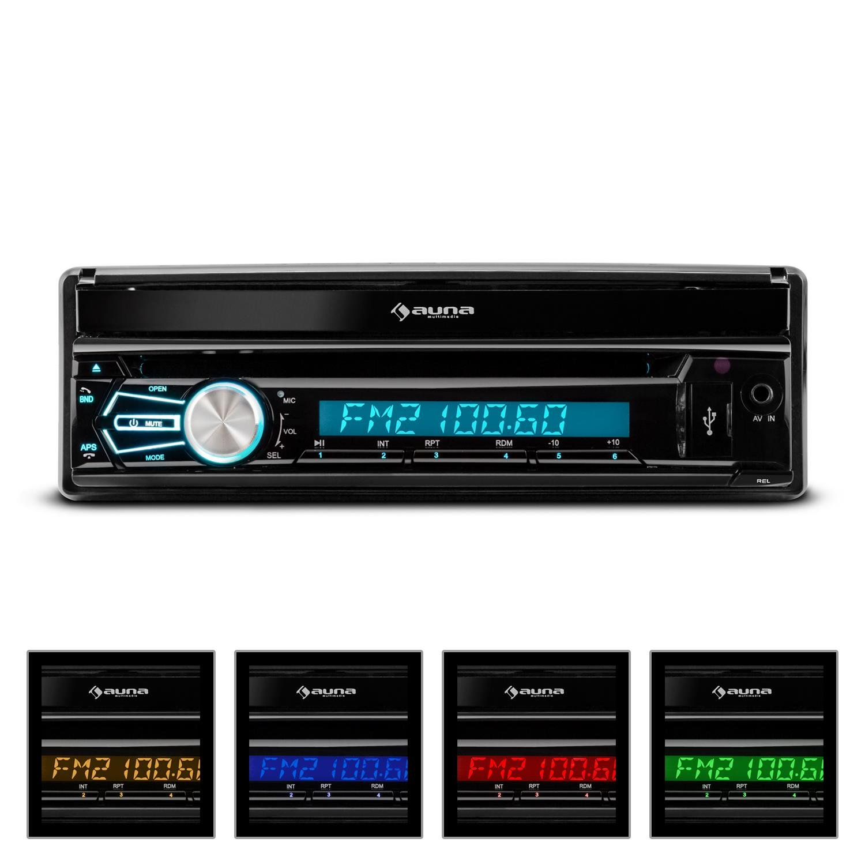 Auna Mvd 320 Autoradio Multimedia Avec Ecran Retractable 17 8cm  # Meuble Informatique Avec Ecran Retractable Electrique