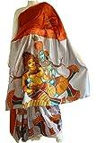 Saarank Murals Hand Painted Silk Cotton Saree- Krishna and Radha