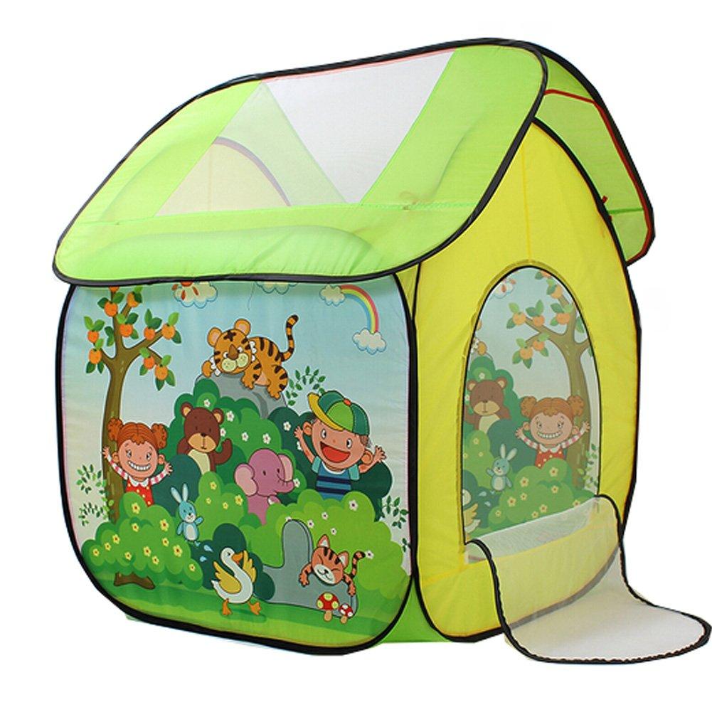 KidsアウトドアインドアFun Play Big Tent Play Houseベビーテント£¬ Animal House B01J5QENOS