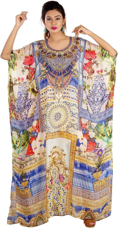 Floral Print Kaftan, Flower Design