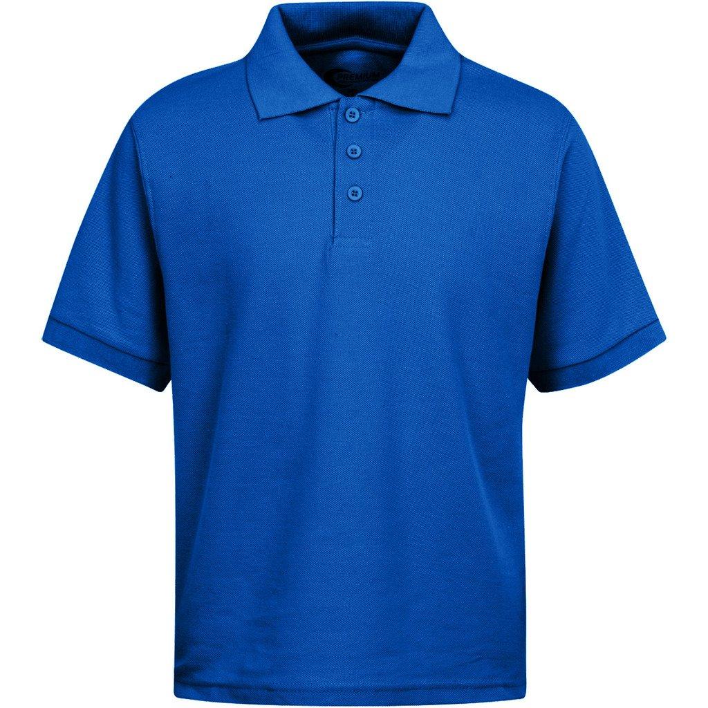 Premium Boys Uniform Polo Shirt Royal Blue L 14/16