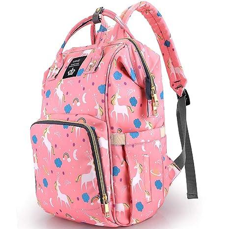 Unicorn Mummy Nappy Diaper Bag Waterproof Baby Travel Changing Nursing Backpack