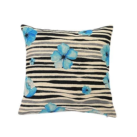 Nacnic Funda de cojin Flores Azules