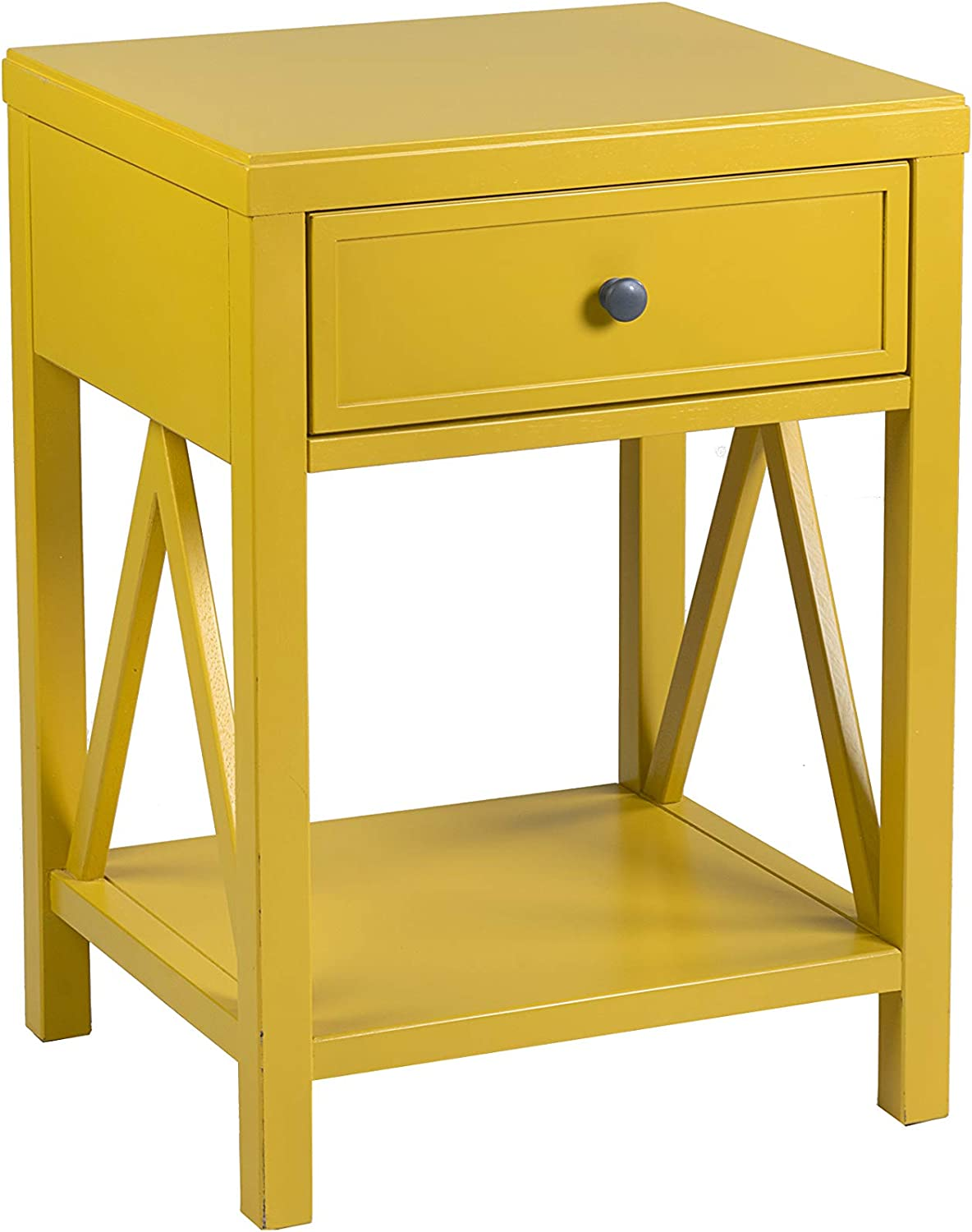 - Amazon.com: East At Main Walton Accent Table, Yellow: Kitchen & Dining