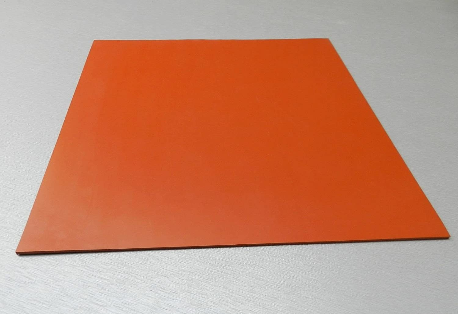 SILICONE RUBBER SHEET HIGH TEMP SOLID RED ORANGE COMMERCIAL GRADE 8 x 8 x 1 8 E 6