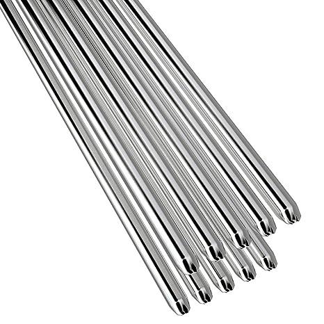 KKmoon 10PCS Alambre de soldadura de aluminio de baja temperatura con núcleo de flujo 2mm *