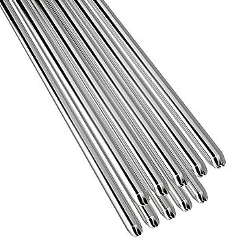 KKmoon 10PCS Alambre de soldadura de aluminio de baja temperatura con núcleo de flujo 2mm * 500mm Al soldar Rod sin necesidad de polvo de soldadura: ...