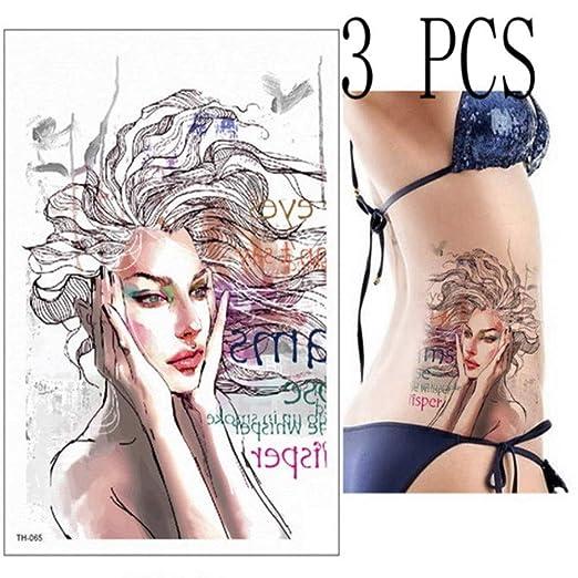 Handaxian 3pcs Brazo Flor máscara Impermeable Harry Style Tattoo ...