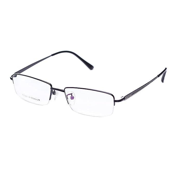 jiema Hombres Titanio soporte para gafas, diseño de marcos mitad ...