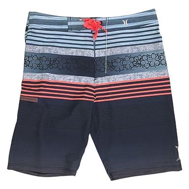 7af6a1d12c40c Hurley Boy's Phantom P30 Ortega Blue Crimson Board Shorts Swim Trunks ...
