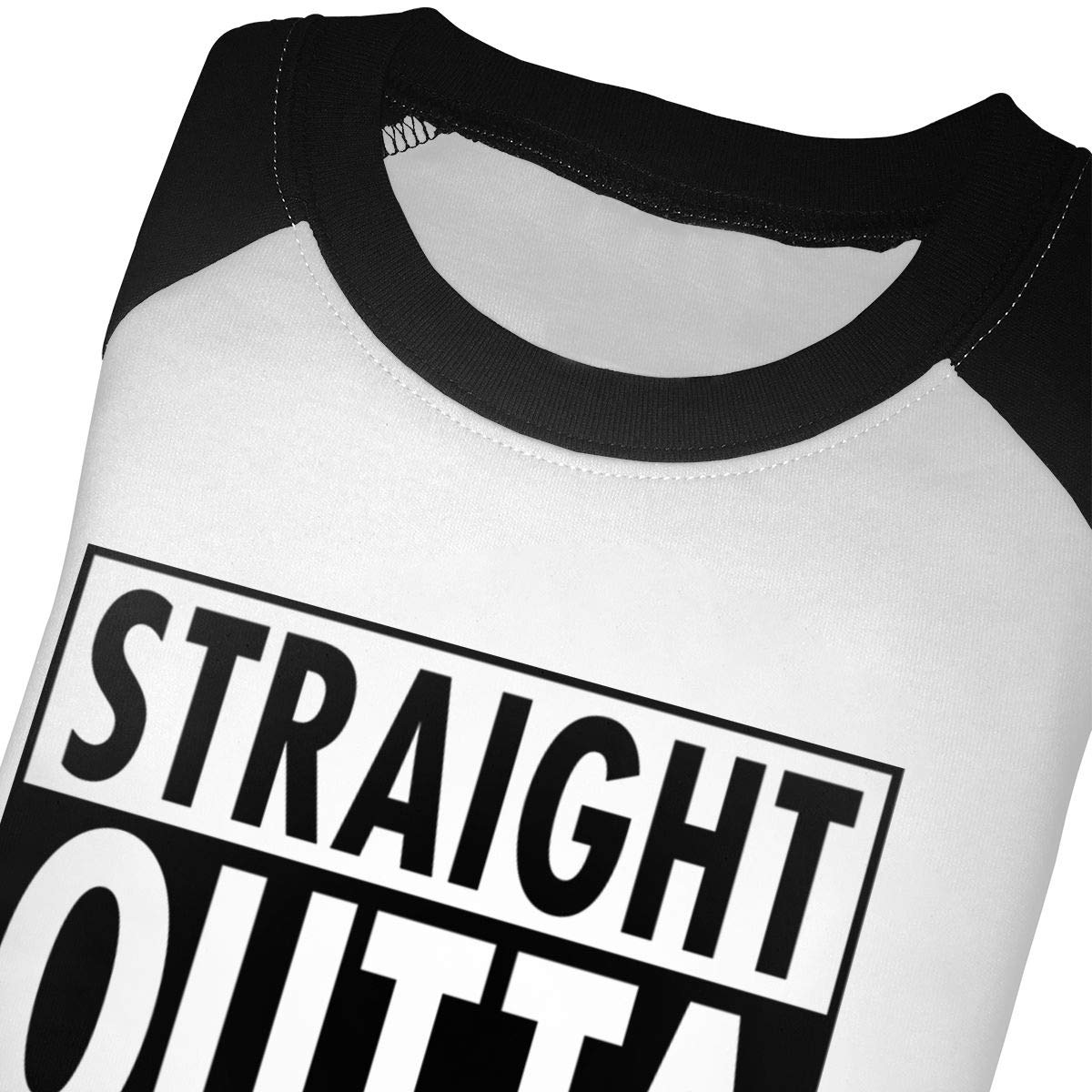 Kocvbng I Straight Outta Poland Raglan 3//4 Sleeve T Shirts for Girls Boy