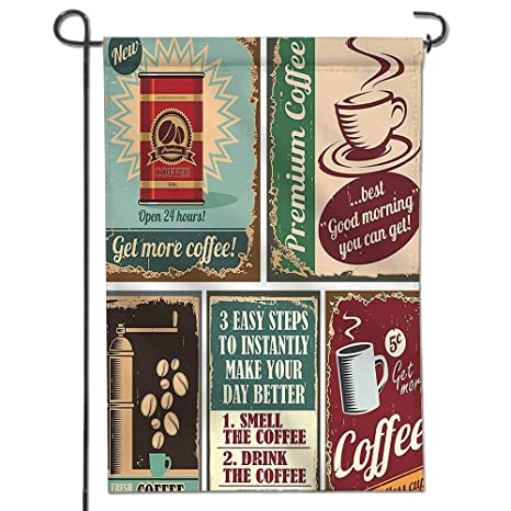 Amazon Mikihome Inspirational Garden Flag Collection Coffee Simple Garden Design Games Collection