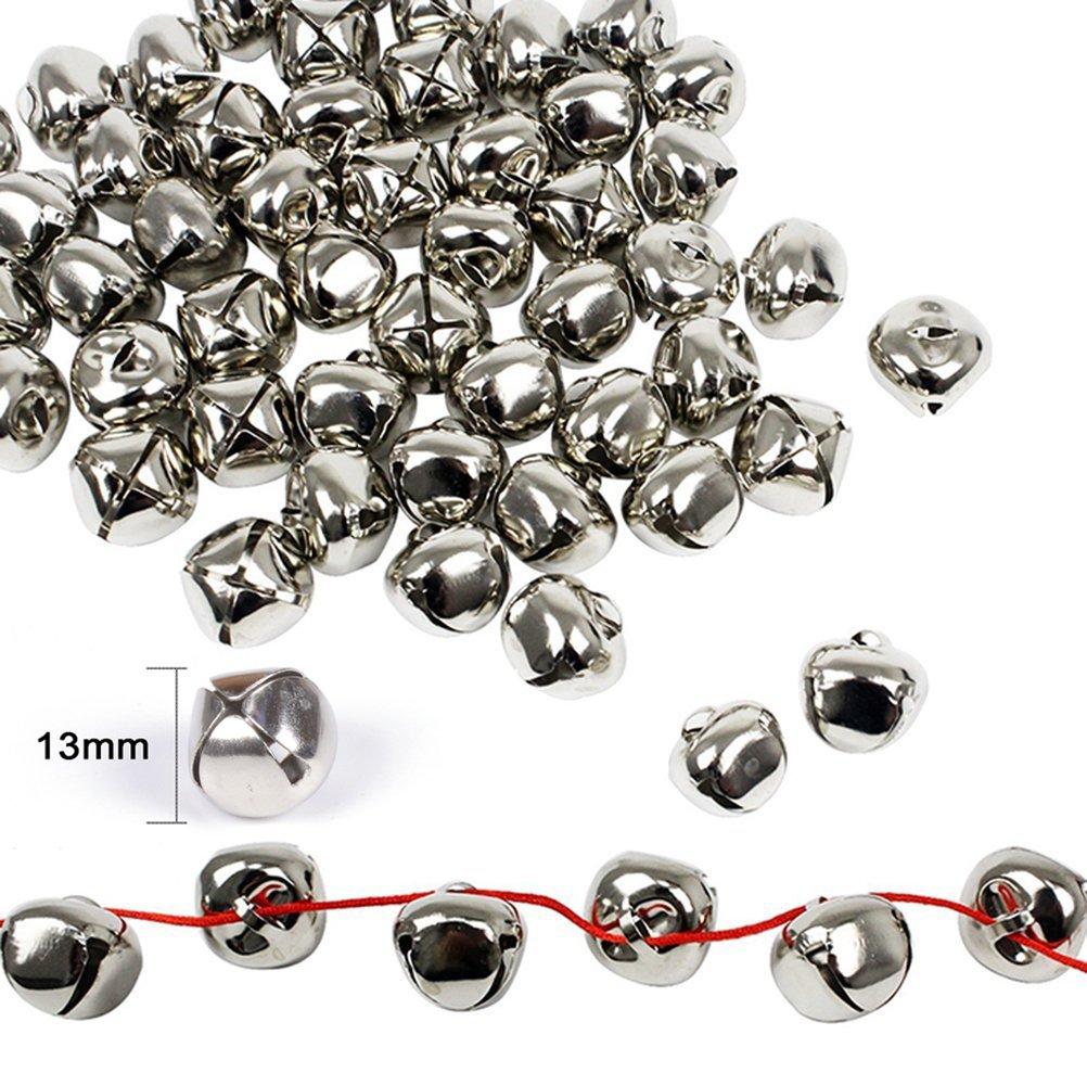 Jingle Bells Christmas Bells Craft Bells Set Silver Colors, 1⁄2'' (120PCS) Larel Vitor