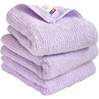 Imabari Towel Quick-Dry Towel, Soft and Highly Absorbent, Air&Thin - 3 Piece Hand Towel Sets, Lavender