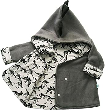EGELEXY Kids Baby Boys Cartoon Dinosaur Print Hoodie Outwear Coat