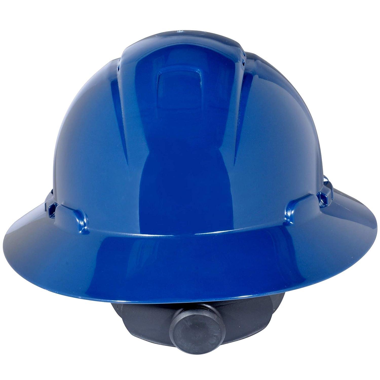 3M Full Brim Hard Hat H-810V, Navy Blue 4-Point Ratchet Suspension, Vented: Hardhats: Industrial & Scientific