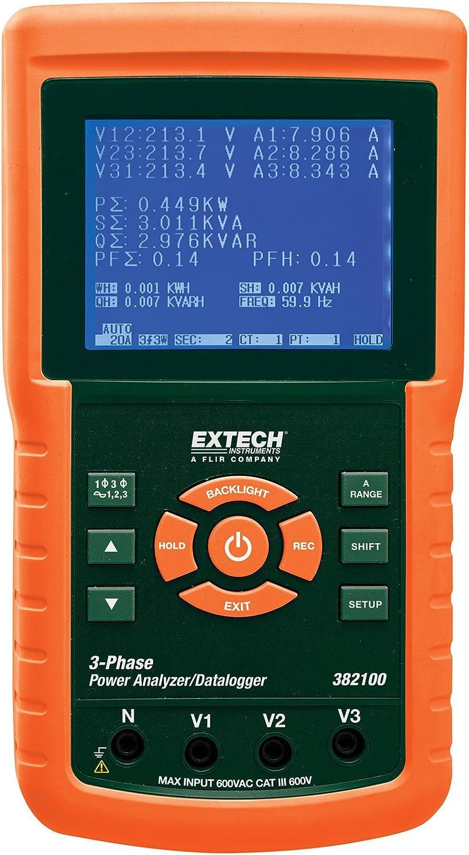 Amazon Com Extech 382100 1200a 3 Phase Power Analyzer Datalogger Home Improvement