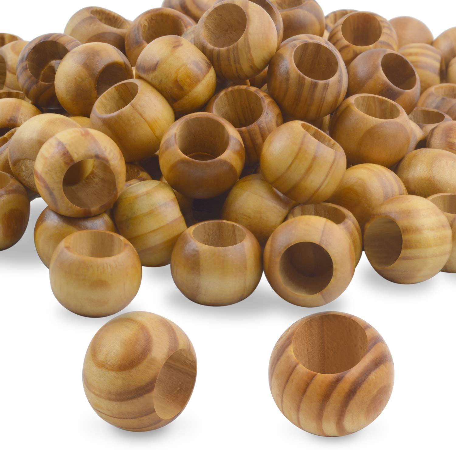 20mm 0.78 inch Small Wood Doll Head Beads with Faces 100 Pieces