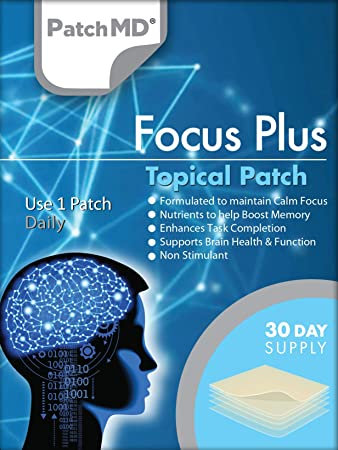 PatchMD - Focus Plus Topical Patch - Maintain Calm Focus, Help Boost Memory, Boost