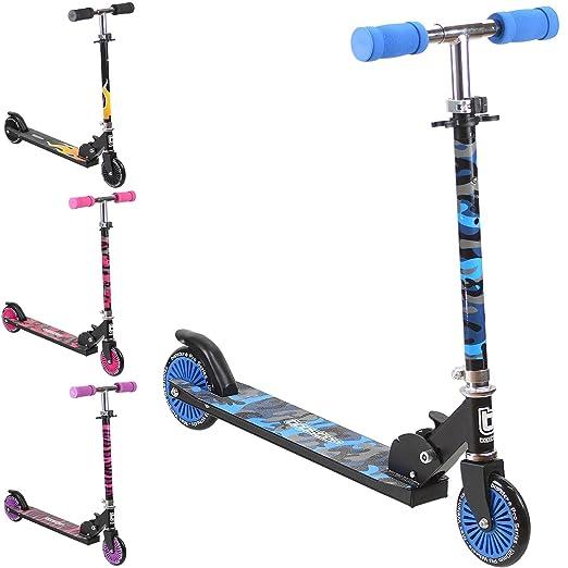 3 opinioni per bopster Monopattino Kick a 2 ruote pieghevole per bambini – Camuflage Blu