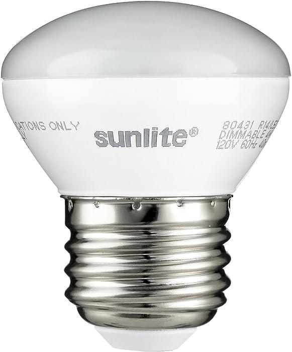 Sunlite 80431-SU LED R14 Mini-Reflector Floodlight 4 Watt (25W Equivalent) Light Bulbs, Medium (E26) Base, 2700K, Warm White, 1 Pack