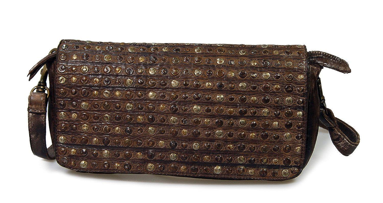IO.IO.MIO SWISH Vintage Leder Handtasche Ledertasche Clutch Schultertasche freie Farbwahl, 30x15x5 cm (B x H x T)
