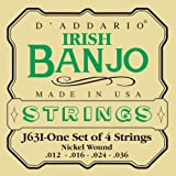 D'Addario J63i Irish Tenor Banjo Strings, Nickel, 12 - 36
