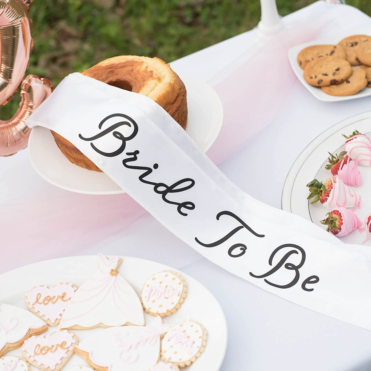 Amazon.com: Bride to Be Bachelorette Party Decoration and Shower Kit ...