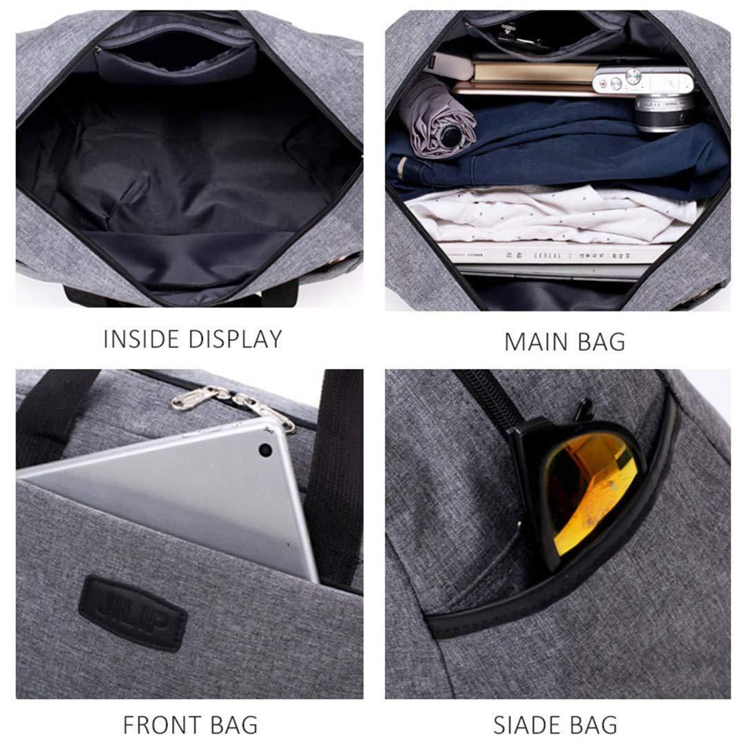 Men Large Capacity Multi-Functional Hand Bag Waterproof Women Luggage Overnight Weekend Travel Bags Black